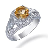 Vir Jewels Sterling Silver Citrine Ring (1 CT) from Vir Jewels