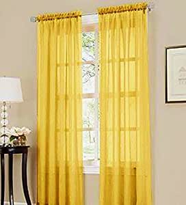 Gorgeous Home 2pc Bright Yellow Solid Soft