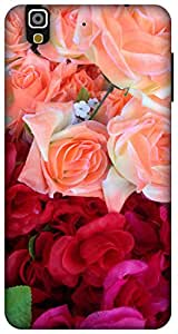 The Racoon Grip red rose bouquet hard plastic printed back case / cover for Yu Yureka