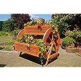 Blumentreppe, Blumenbank, Pflanztreppe 95cm Breite aus Holz, vollständig behandelt in braun
