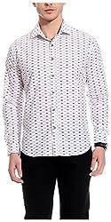 Bolt Men's Casual Shirt (bolt020, White, L)