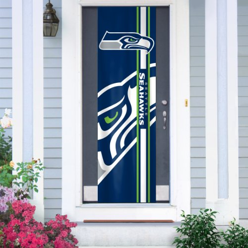 Nfl seattle seahawks team color and logo door banner for Door 00 seatac