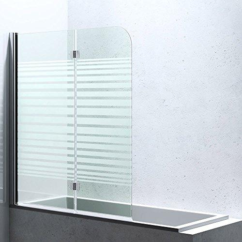 badewannen duschwand cortona1408sl bxh 117x141cm aus esg sicherheitsglas in teilsatiniert. Black Bedroom Furniture Sets. Home Design Ideas