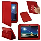 Stuff4 PU Leather Professional Portfolio Magnetic Case/Stand Cover for 7 inch Tesco Hudl - Red