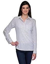 Kiosha White Polka Dot Full Sleeve Top