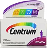 Centrum Women Multivitamin Tablets, 120 ea (Pack of 2)