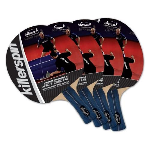 Killerspin JETSET 4 Table Tennis Paddle Set with 6 Balls