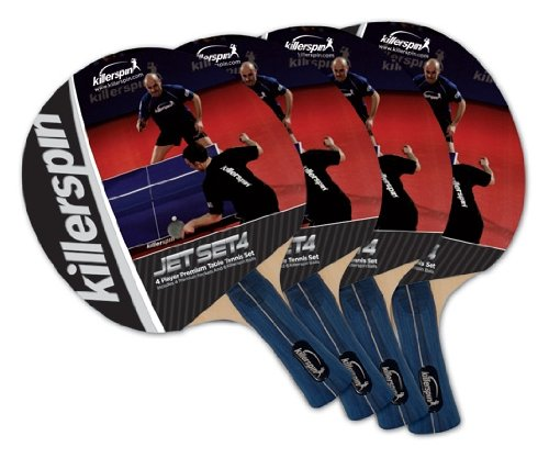 Why Choose Killerspin 110-09 Jet Set 4 Table Tennis Racket Set, 4 Racket Set