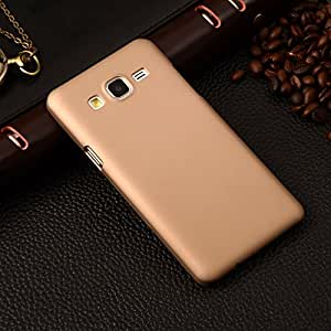 CZap Tough Case Hard Matte Rubberized Back Cover for Samsung Galaxy J5 - Gold