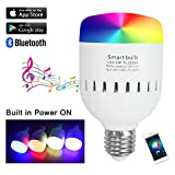 Smart LED Music Bulb With Bluetooth Speaker Unique Portable RGB+W Color Change Light Bulb with Built-in Battery- APP Remote Controlled Rhythm-Sync Party Light-7W E27 by Santaro