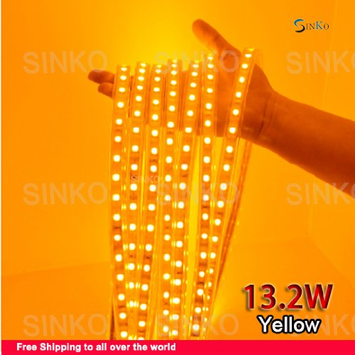 Free Shipping (5 M/Lot) , White, Blue , Yellow , Waterproof 220 V Led Strip Light With Plug And Core