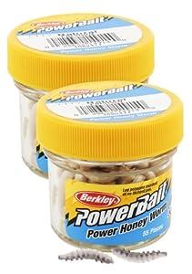 Berkley EBPHWN PowerBait Power Honey Worm, Natural, 1-Inch by Berkley