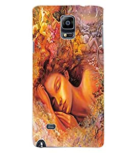 ColourCraft Beautiful Girl Design Back Case Cover for SAMSUNG GALAXY NOTE 4
