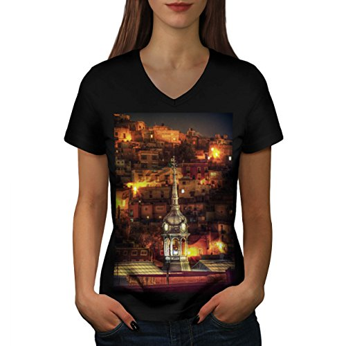 beautiful-night-life-old-town-women-new-black-s-2xl-v-neck-t-shirt-wellcoda