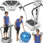 3900W Peak Power Crazy Fit Vibration Plate 180 Speed Silent Drive Motor 2016 Edition Gym Master - Semi Commercial Use