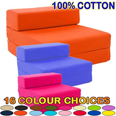Gilda ® Single Chair Bed/Futon - HOT PINK COTTON - other Colours / Fabrics available in Store