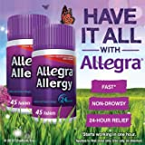 Allegra Allergy - 45 Tablets (180 mg each) 2 PACK = 90 TABLETS!