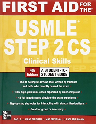 First Aid for the USMLE Step 2 CS, Fourth Edition (First Aid USMLE) PDF