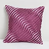 A S Traders Wavy Twisted Cushion Cover Dupoin Base Fabric (40 Cm x 40 Cm, Magenta, Set of 5)