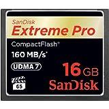SanDisk Extreme Pro CompactFlash 16GB Speicherkarte (bis zu 160MB/s lesen)