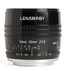 Lensbaby Velvet 56mm f/1.6 Lens for Sony A (Black)