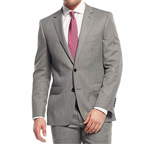 DKNY-Grey-Birdseye-Two-Button-100-Wool-New-Mens-Sport-Coat