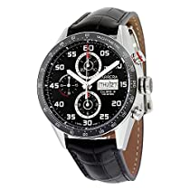 TAG Heuer Men's CV2A1R.FC6235 Analog Display Swiss Automatic Black Watch