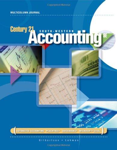 Century 21 Accounting: Multicolumn Journal