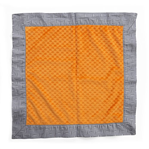 One Grace Place Teyo's Tires Binky Blanket, Grey/Orange - 1