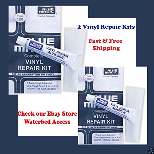 (Ship from USA) 2 Vinyl Repair Kit Blue Magic WATERBED PATCH KITS- Mattress Repair /ITEM#H3NG UE-EW23D62808