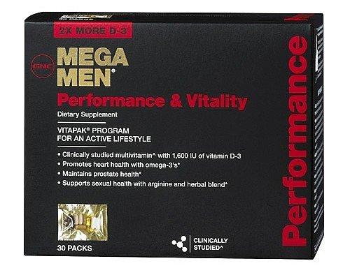 Performance et Vitalité GNC MEGA MEN 30 paquets