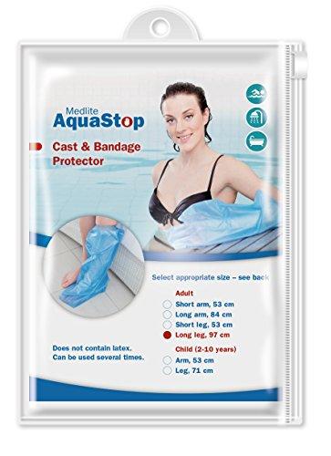 Aquastop - Protezione impermeabile per gesso o fasciature alla gamba, da adulto, modello lungo