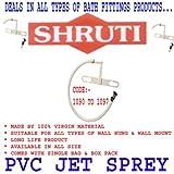 SHRUTI Jet sprey Pvc Plate & Pvc L Band Nozzle With Plain Pipe (Size -18'') Speically For Toilet Jet Sprey