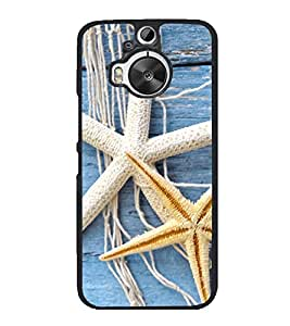 Star fish 2D Hard Polycarbonate Designer Back Case Cover for HTC One M9 Plus :: HTC One M9+ :: HTC One M9+ Supreme Camera