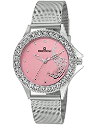 Decode Ladies Gem Studded LR020 Pink Pink Diamond Collection Watch For Women/Girls