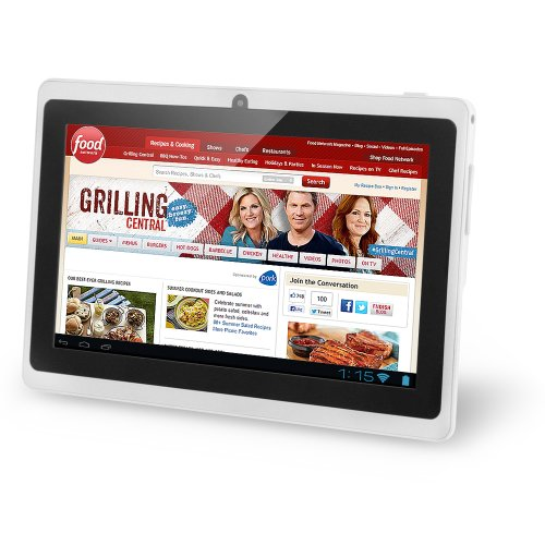 NORIA T2 7″ Android JellyBean Tablet PC – Multi Touch. 3D Gaming. 8GB Flash Local Memory. HDMI Port (Bonus HDMI Cable Included). Dual Core CPU. Integrated Dual Camera 2MP (White) September 2013.