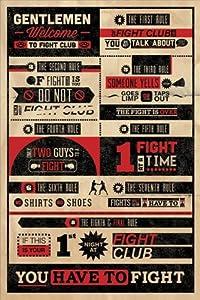 Die Regeln des Fight Clubs, Englisch Poster, 61x92