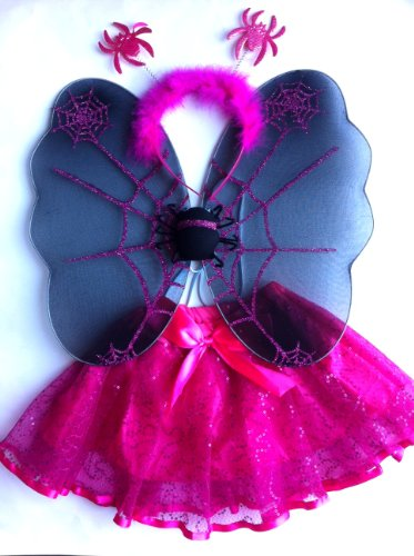 Spider Wing Tutu Set Fuchsia