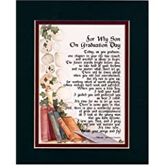For My Son on Graduation Day Touching 8x10 Poem
