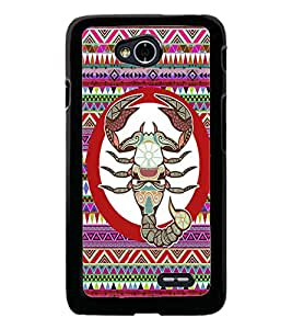 PrintDhaba Zodiac Cancer D-5846 Back Case Cover for LG L90 (Multi-Coloured)