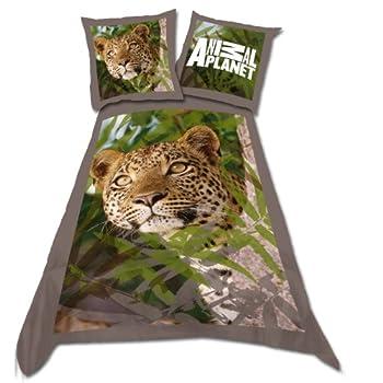 pas cher parure housse de couette linge de lit enfant garcon ou fille leopard animaux acheter. Black Bedroom Furniture Sets. Home Design Ideas
