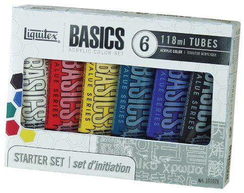Liquitex BASICS Acrylic Paint Tube 4 oz, 6-Piece Set (Acrylic Color Mixing Set compare prices)