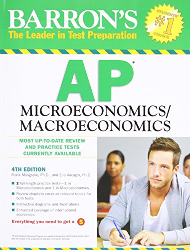 Barron's AP Microeconomics/Macroeconomics, 4th Edition (Advanced Macroeconomics 4th compare prices)