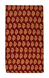 Gulmohar Women's Cotton Unstitched Dress Material (Orange)