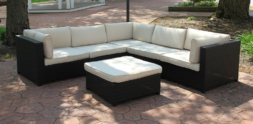 Incredible Black Resin Wicker Outdoor Furniture Sectional Sofa Set Unemploymentrelief Wooden Chair Designs For Living Room Unemploymentrelieforg