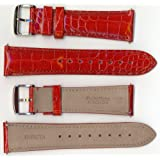Invicta Genuine 24mm Red Alligator Leather Watch Strap IS213