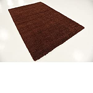 A2Z RUG SOFT SUPER THICK SHAGGY RUGS Chocolate 133X133 CM - 4.4X4.4 FT ROUND AVAILABLE IN 6 COLOURS AND 8 SIZES AREA RUGS by A2Z Rug