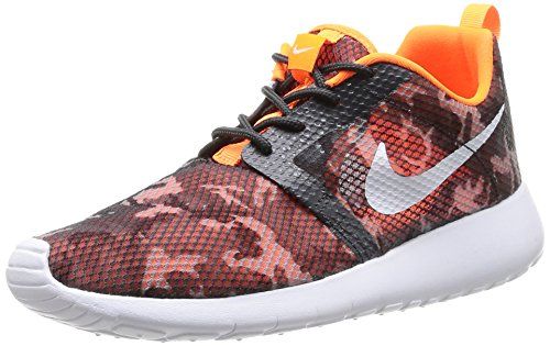 Nike Rosherun Scarpe da Corsa, Unisex Bambino, Dark Grey/White-Ttl Orange-Blk, 39