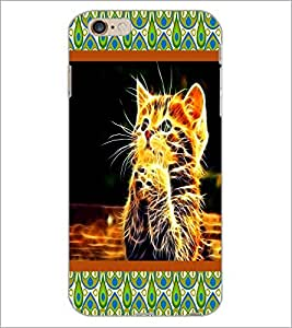 PrintDhaba Sitting Boy D-4751 Back Case Cover for APPLE IPHONE 6 (Multi-Coloured)