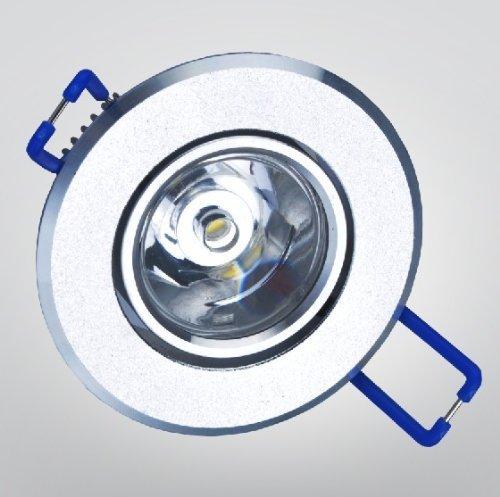 6-Pack 1W 5500K-6500K Cool White Led Ceiling Light Under Cabinet Light Puck Light Downlight Spotlight Recessed Light Ac100-240V